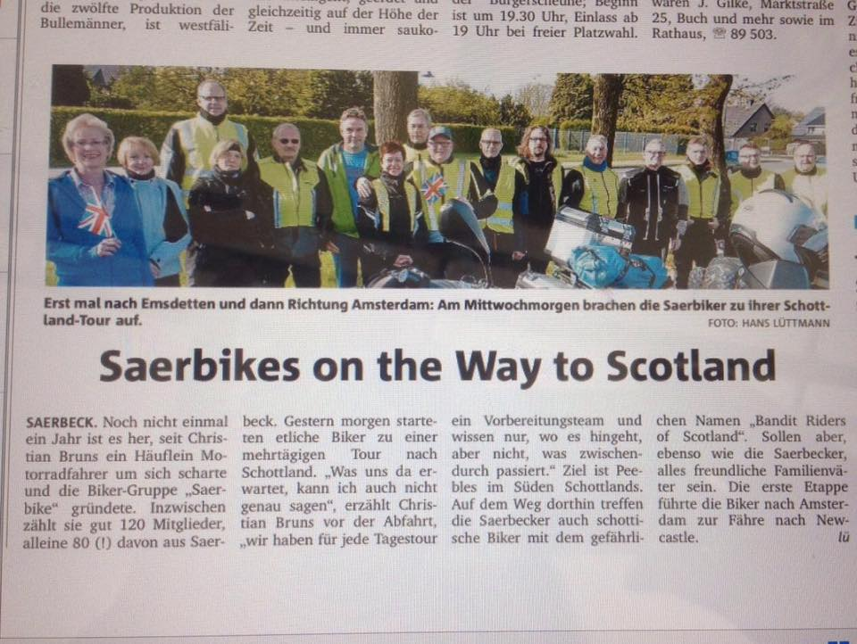 Saerbikes on the Way to Scotland